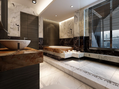 Penthouse Master Bathroom